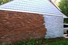 whitewash exterior brick - Doing this to my orange brick around the third bay! Got approval from Jason.  Woo hoo!!