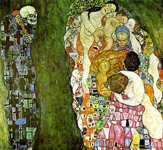 "Gustav Klimt (one of my fav artists) ""Death and Life"""