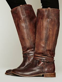 Free People 500 Miles Distressed Tall Boot