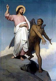 La Tentación de Jesús en la pintura de Ary Scheffer.