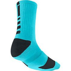NWT NIKE Elite Cushioned Basketball Socks Crew Blue Mens 6 7 8 Womens 6 7 8 910