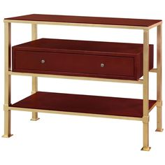 Bungalow 5 Marcel 1 Drawer Console in Gold