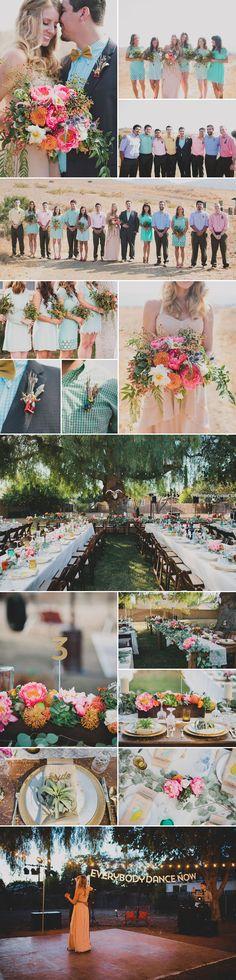 A Real, Fun, Rustic Fiesta Wedding!