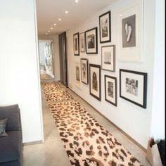 hallway & a fancy cheetah rug, oooh la la.