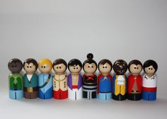 Set of 10 Prince Peg Dolls by kaisDOLLhouse on Etsy, $60.00