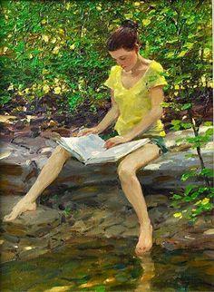 pintor norteamericano DAVID HETTINGER.