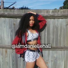 @iamdaniellehall Sexy fitness fashion beauty best makeup girl mixed race brown skin curly hair health food eat hungry quote