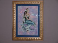 Enchanted Mermaid by Mirabilia, The hand dyed fabric made this design really pop! Cross Stitch Gallery, Cross Stitch Supplies, Cross Stitching, Fabric Patterns, Enchanted, Cross Stitch Patterns, Needlework, Mermaids, Painting