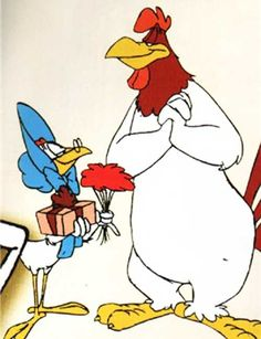Miss Prissy and Foghorn Leghorn