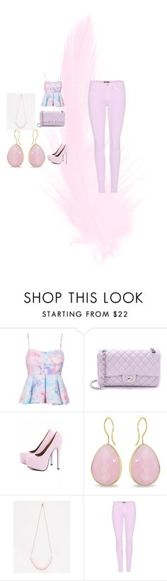 """""""la moda"""" by anainesdiazh on Polyvore featuring moda, Chanel, AX Paris, Ice y 7 For All Mankind"""