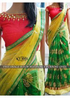 Bollywood Replica - Designer Green Saree - KT-3055