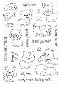 Clearly Besotted PLAYFUL POOCHES Clear Stamp Set  zoom image