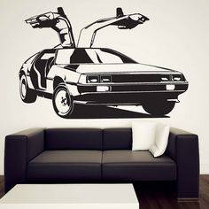 Hey, I found this really awesome Etsy listing at https://www.etsy.com/listing/87873308/delorean-wall-decal-vinyl-sticker-back