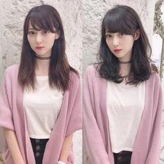 Japanese Hairstyle in 2020 Korean Hairstyles Women, Asian Men Hairstyle, Hairstyles With Bangs, Diy Hairstyles, Pretty Hairstyles, Japanese Hairstyles, Asian Hairstyles, Shoulder Length Hair With Bangs, Before After Hair