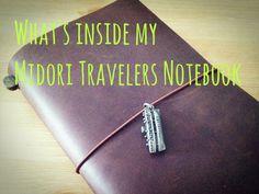 Midori Travelers Notebook Setup update - 1 month in [HD]