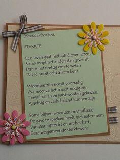 Sterktekaart met gedicht.