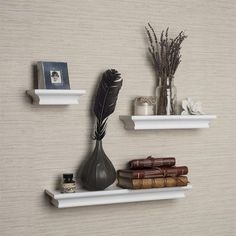Floating Shelves With Lip Inspiration 24L X 14D Shelf No Lip Slatwallgridwallwhitelot Of 6 ** Continue To Decorating Inspiration