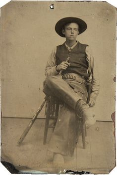 A wonderfully expressive tintype portrait of a rough Cowboy chomping on his cigar, featuring a nickel-plated Colt Single Action Army and holster rig. Description from pinterest.com. I searched for this on bing.com/images