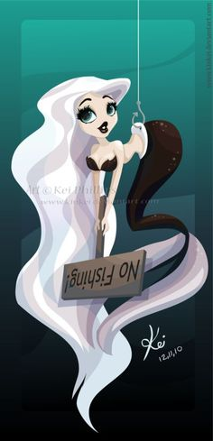 Another mermaid to add to my collection... Hope you guys like! Art © kei phillips, all rights reserved.