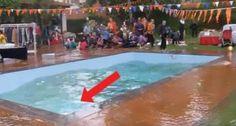Un tremblement de terre se produit en plein pique-nique : regardez ce que fait la piscine
