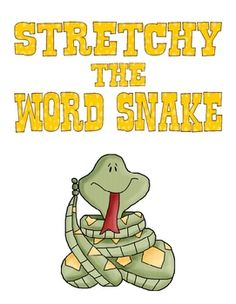 This is an adorable book to use while singing Stetchy the Word Snake by Jack Hartmann.  This song is on his Alphabet Zoo cd....