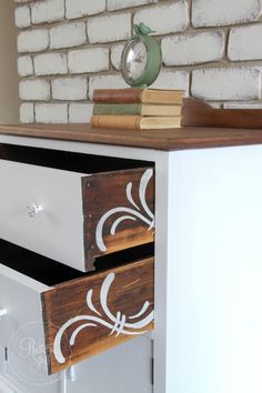 Looking for the perfect piece for a special job! First, let me say thank you forall the wonderful name suggestions for my lovely dresser drawers I posted about last week! I have picked a name thatsomeone suggested in acomment on my Facebook post about the dresser. I'll let you know at the end of this post … I totally forgot to take before pictures of this little cabinet makeover. It was a Gumtree find and the owners grandfather had re-varnished it at some stage over a deep reddish stain…