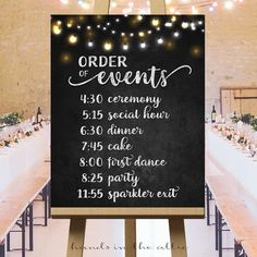 reception timeline Order of events timeline sign printable, wedding day schedule of the day, personalized list ceremony reception, cocktail, chalkboard DIGITAL Wedding Ceremony Ideas, Order Of Wedding Ceremony, Wedding Reception Timeline, Wedding Planning Timeline, Wedding Reception Decorations, Wedding Tips, Event Planning, Wedding Planner, Trendy Wedding