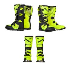 8079ec8229bf3 Oneal MX Motocross Rider Adult hi viz yellow riding boots offroad Motocross  ATV