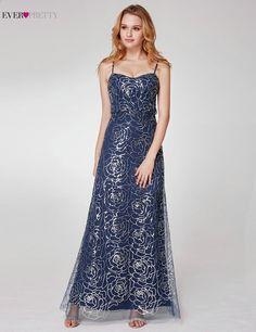 e70fe1aa3c Ever Pretty New Arrival Świecący Cekiny Prom Dresses Maxys Girls Spaghetti  Pasy A Line Piętro Długość