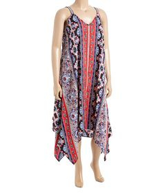 Look what I found on #zulily! Red & Royal Paisley Handkerchief Maxi Dress - Plus #zulilyfinds