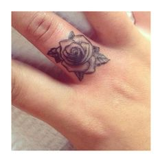 Mini Tattoo, Finger Tattoo, Tattoo Placement, Rose Tattoo Tattoo Inspo ❤ liked on Polyvore