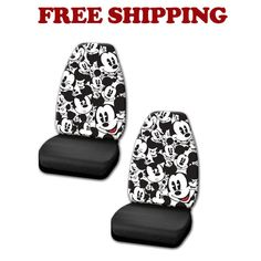 Brand New Disney Classic Cartoon Mickey Mouse Car Truck 2 Front Seat Covers | eBay Motors, Parts & Accessories, Car & Truck Parts | eBay!