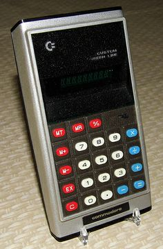 Vintage Commodore Electronic Pocket Calculator, Model GL-997, 8 Digit Green VFD, Made in Japan, Circa 1975.