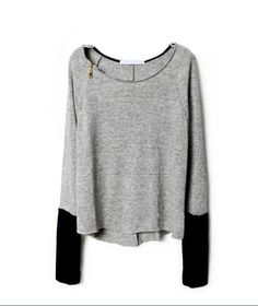 Long-sleeved knit bat sleeve sweater #092820AD