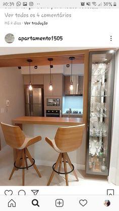 Kitchen Bar Design, Home Decor Kitchen, Interior Design Kitchen, Bar Kitchen, Kitchen Small, Kitchen Furniture, Home Bar Designs, Home Room Design, Cuisines Design