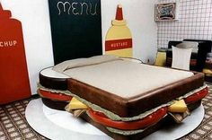 Carly, I get this bed, you can have the hamburger one.