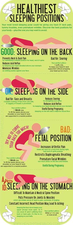 Healthiest Sleeping Positions #Infographic