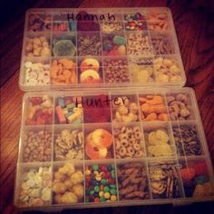 "Travel Snack Boxes - ""Road trips and food – what to pack and where to eat."" Travel. Kids. Family. Summer."