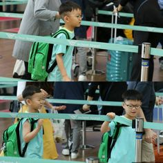Song Triplets on the airport. They will have been in Paris in 1 year. OMG their hair...... ^^ Minguk's hair....