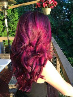 Goldwell elumen purple hair balayage ombré goldwell color vv@all kk@all bl@all pk@all highlights