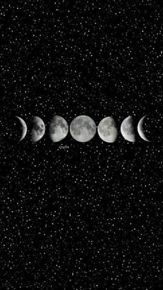 Phases of the moon canvas print Dark Wallpaper Iphone, Wallpaper Space, Tumblr Wallpaper, Black Wallpaper, Aesthetic Iphone Wallpaper, Galaxy Wallpaper, Screen Wallpaper, Aesthetic Wallpapers, Wallpaper Backgrounds
