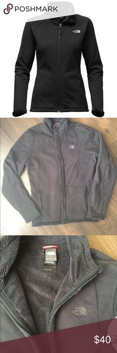 ✨Cute The NorthFace Jacket✨ Selling my super cute NorthFace jacket! It's super comfy and warm, I have loved it. It has the soft fleece/oso type of material inside. Black all over, north face logo on front as shown. It is a size small, fitted fit. It is used, but still great condition. Clean, smoke free, pet free home. The North Face Sweaters