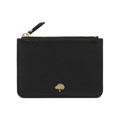 Mulberry - Tree Coin Pouch in Black Small Classic Grain
