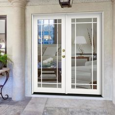 Outdoor French Doors, French Patio, Single Wide Remodel, Single French Door, Aluminium Doors, Wood Patio, Staircase Design, Sliding Glass Door, Home Remodeling