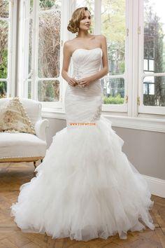 Sheath Ärmlös Empire Lyx Bröllopsklänningar