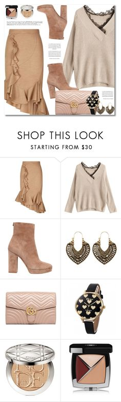 """""""Movie Date"""" by defivirda ❤ liked on Polyvore featuring Givenchy, Salvatore Ferragamo, Gucci, Christian Dior and Chanel"""