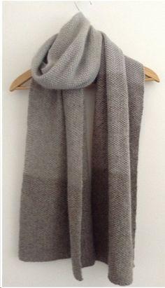 Antonia Shankland's Multigrain Scarf in various Shibui yarns - classic, lovely, lush!