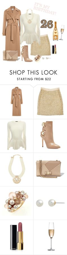 """""""Happy birthday to me!"""" by anchilly23 ❤ liked on Polyvore featuring Jason Wu, Kate Spade, Alexander McQueen, GUESS, Emily & Ashley, Salvatore Ferragamo, Mimí, Carolee, Chanel and Rogaska"""