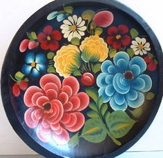 Mexican Batea-  Hand Painted Tray
