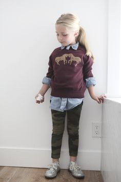 j crew horse sweater diy for kids